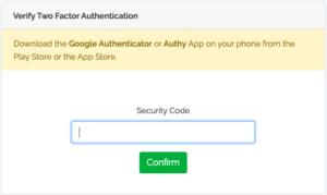 Google Auth code